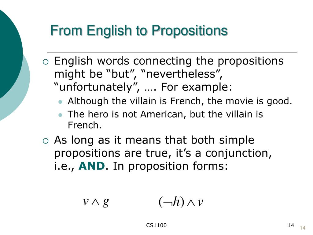 From English to Propositions