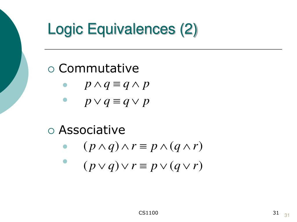 Logic Equivalences (2)