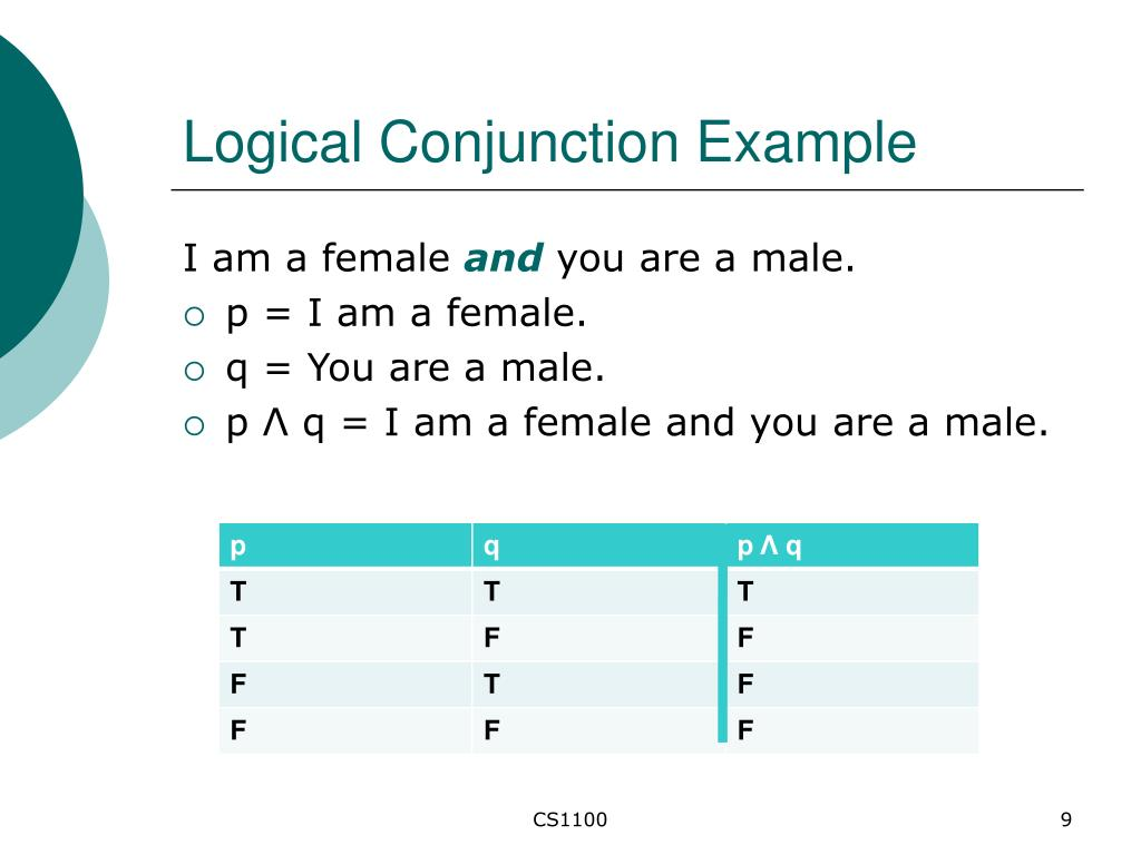 Logical Conjunction Example