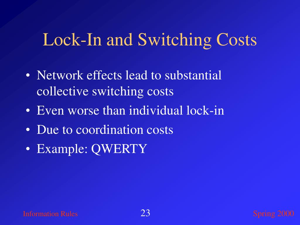 Lock-In and Switching Costs