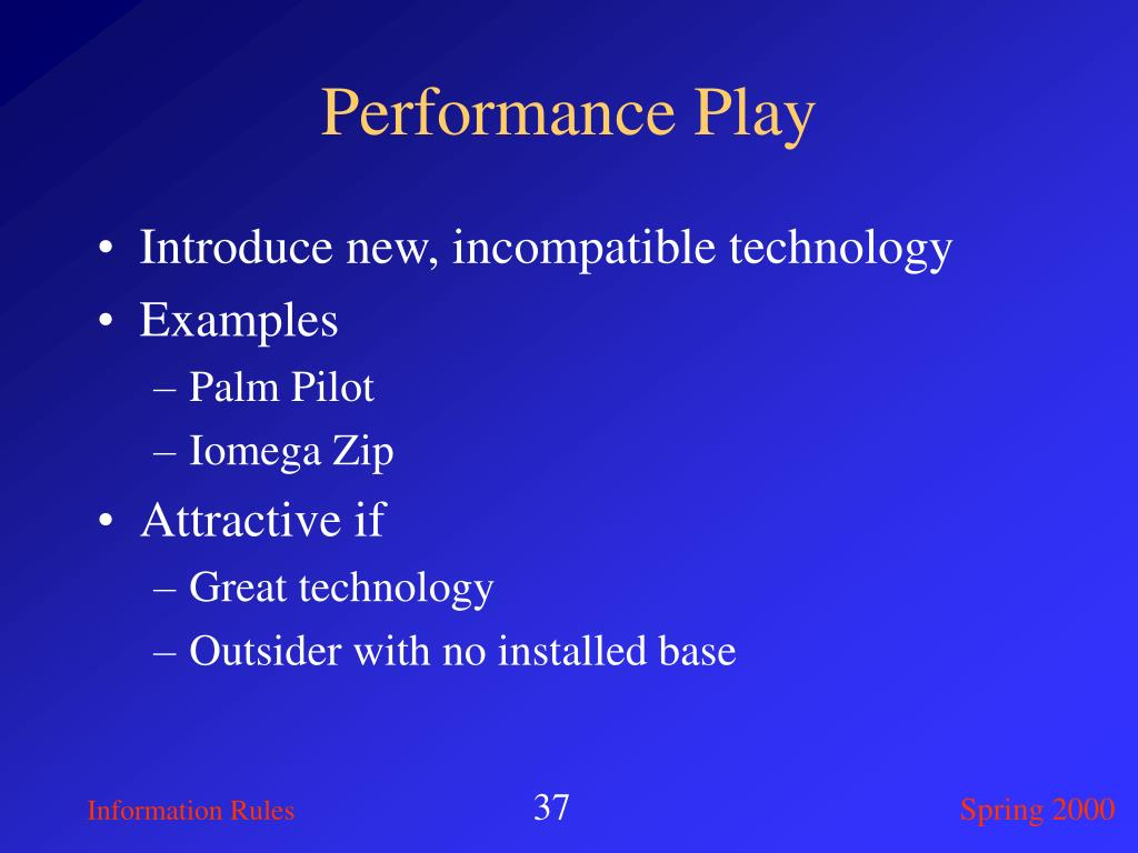 Performance Play