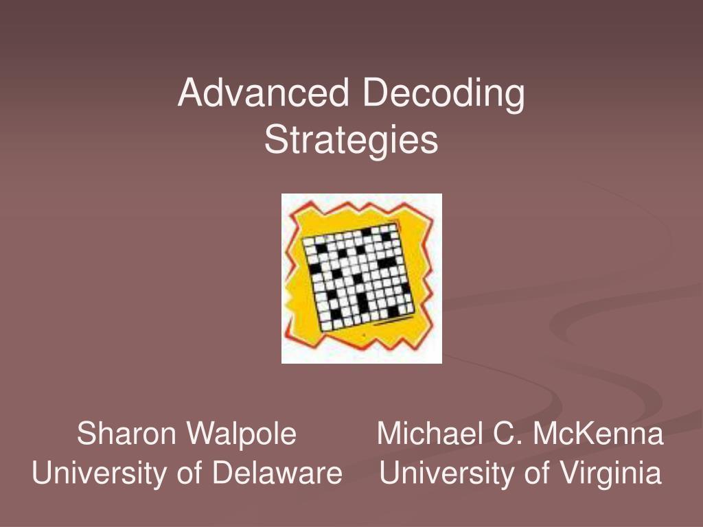 Advanced Decoding Strategies
