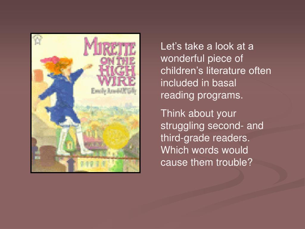 Let's take a look at a wonderful piece of children's literature often included in basal reading programs.
