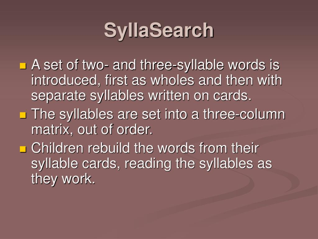 SyllaSearch