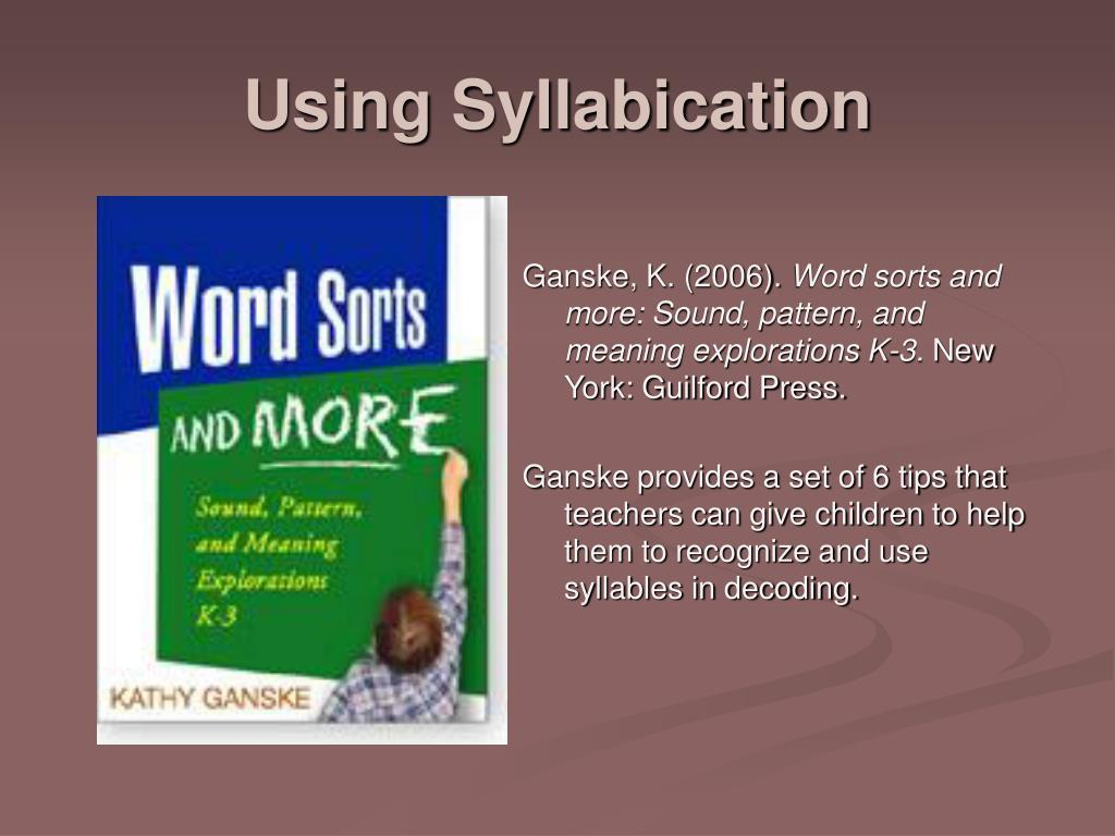 Using Syllabication