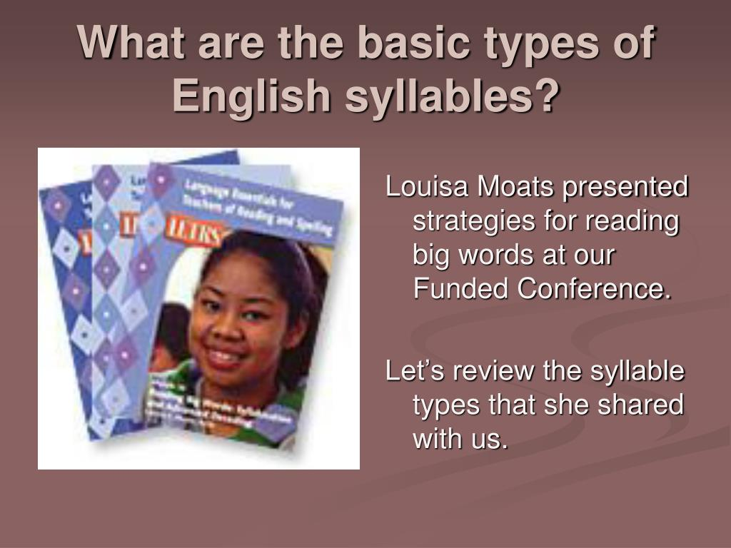What are the basic types of  English syllables?