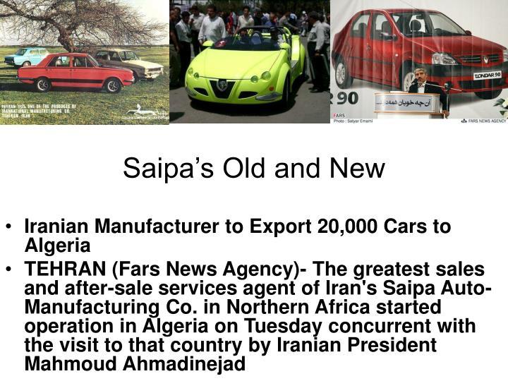 Saipa's Old and New