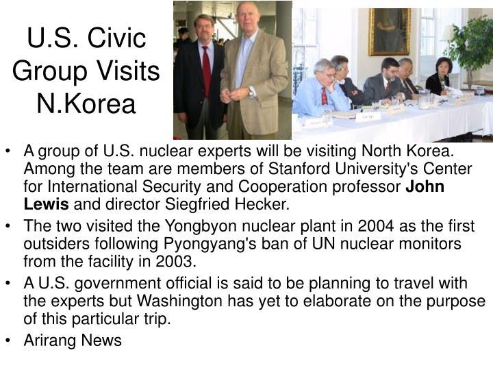 U.S. Civic Group Visits N.Korea