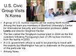 u s civic group visits n korea