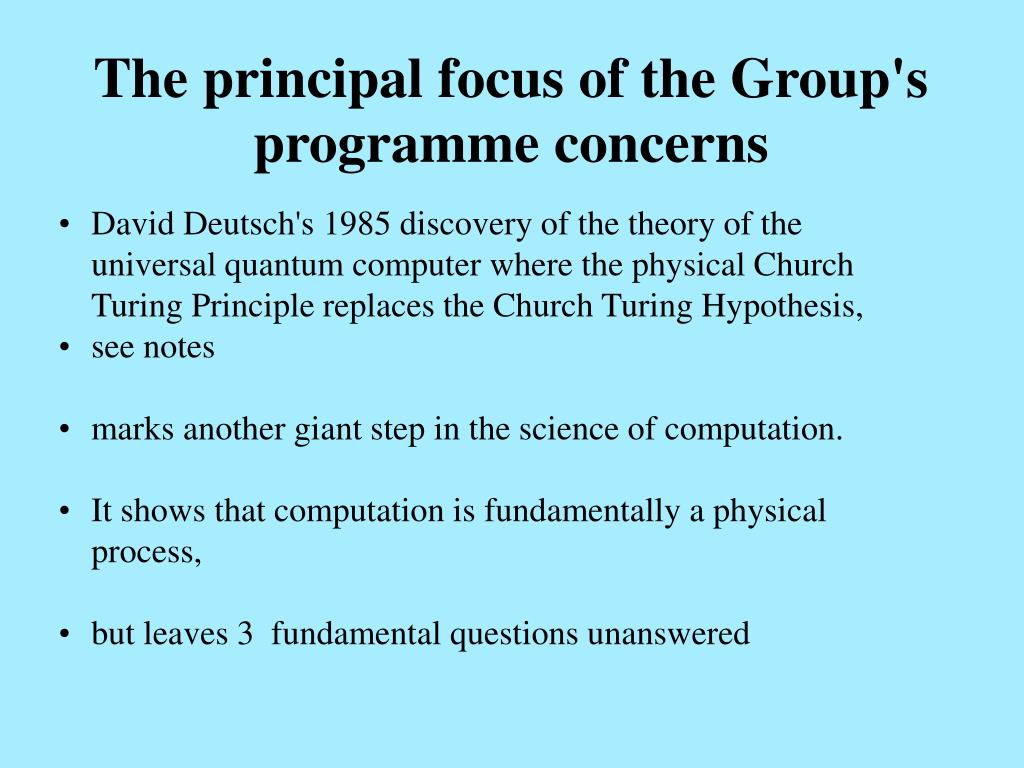 The principal focus of the Group's programme concerns