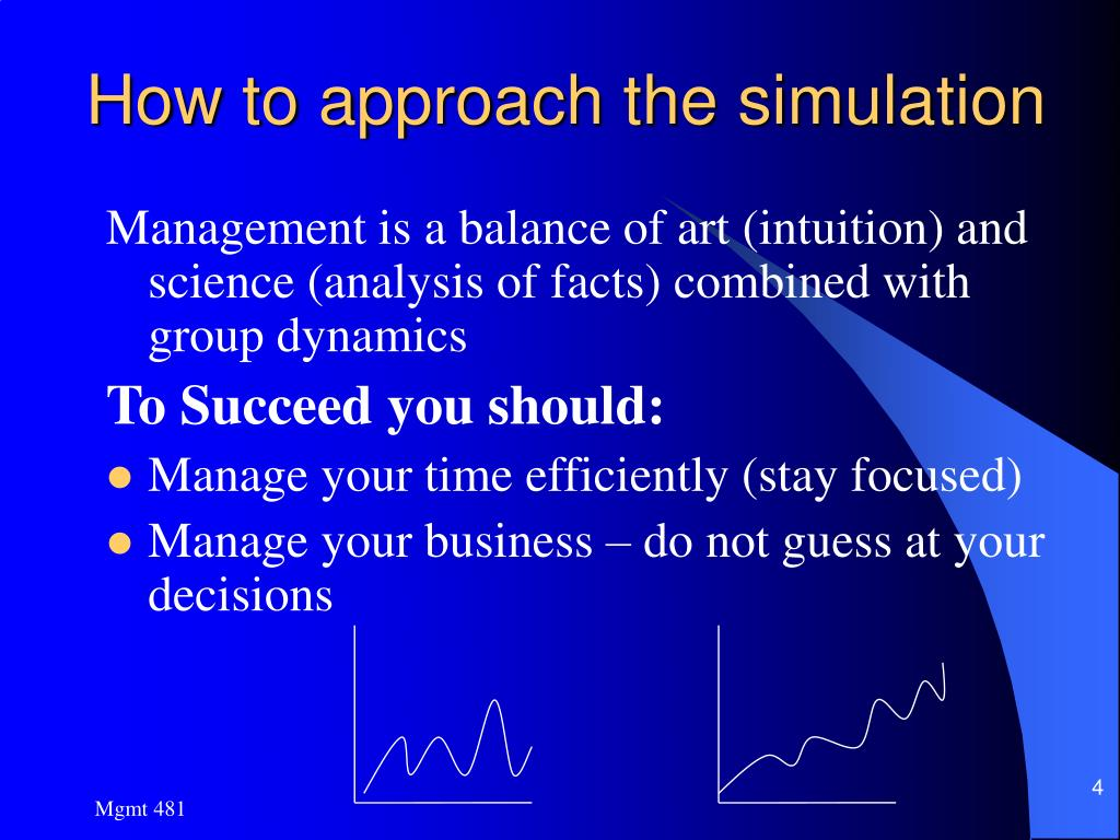 How to approach the simulation