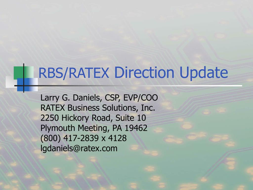 rbs ratex direction update l.