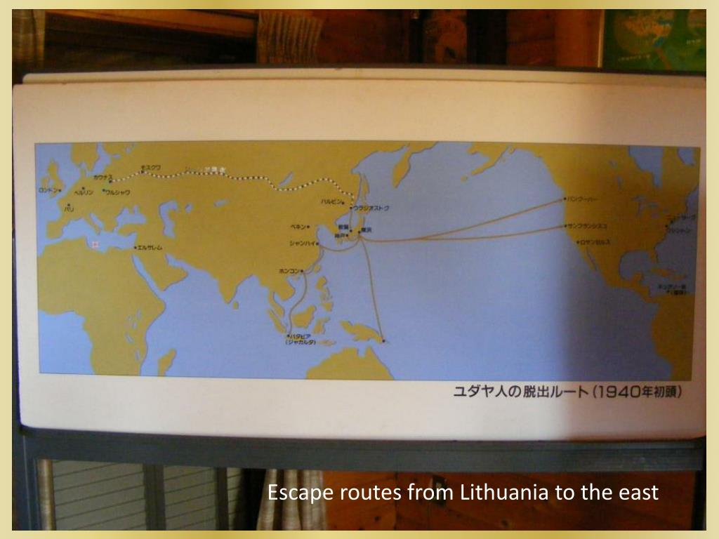 Escape routes from Lithuania to the east