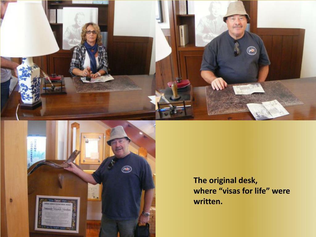 The original desk,