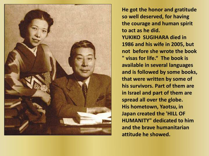 He got the honor and gratitude so well deserved, for having the courage and human spirit to act as h...