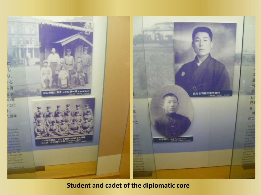 Student and cadet of the diplomatic core