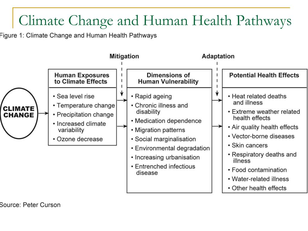 Climate Change and Human Health Pathways
