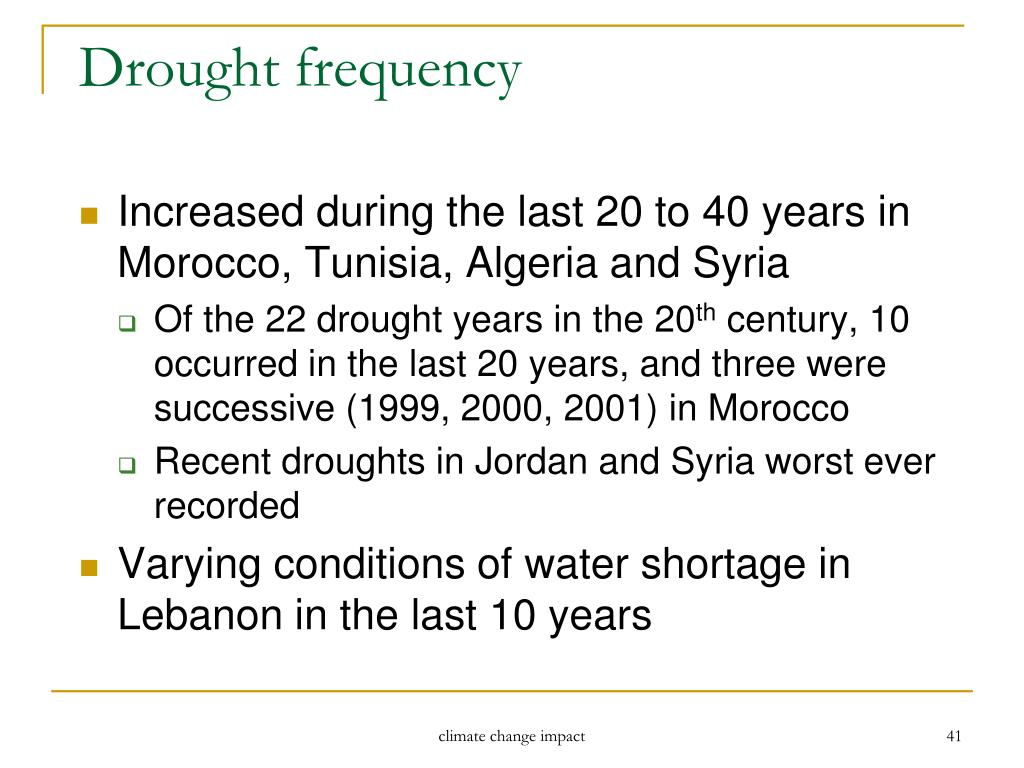 Drought frequency