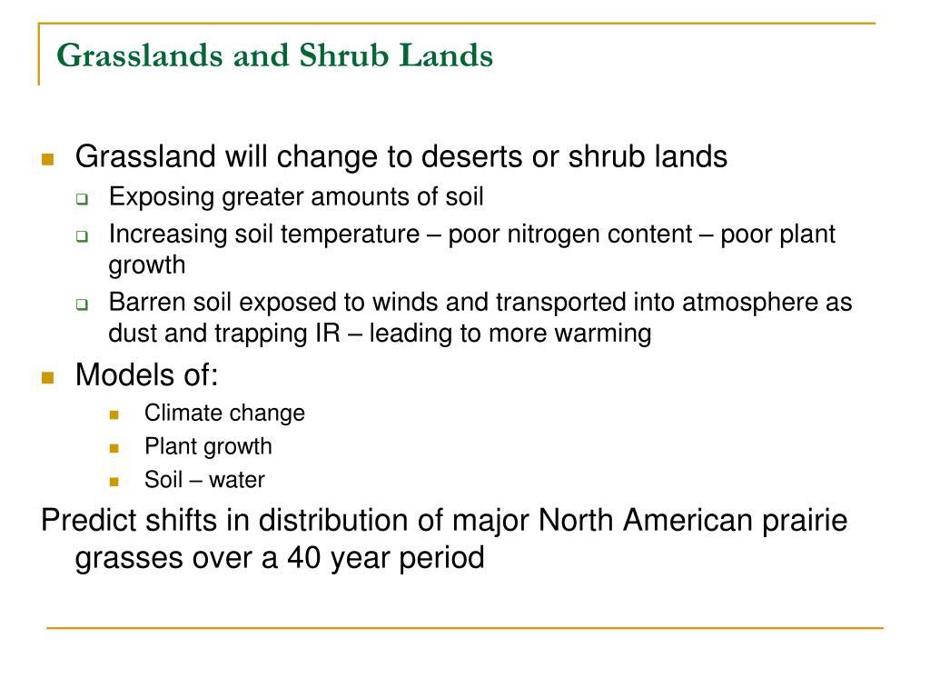 Grasslands and Shrub Lands