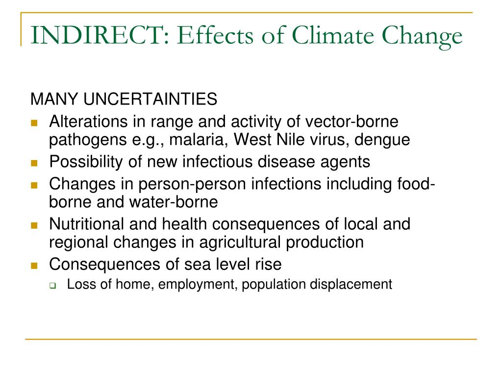 INDIRECT: Effects of Climate Change
