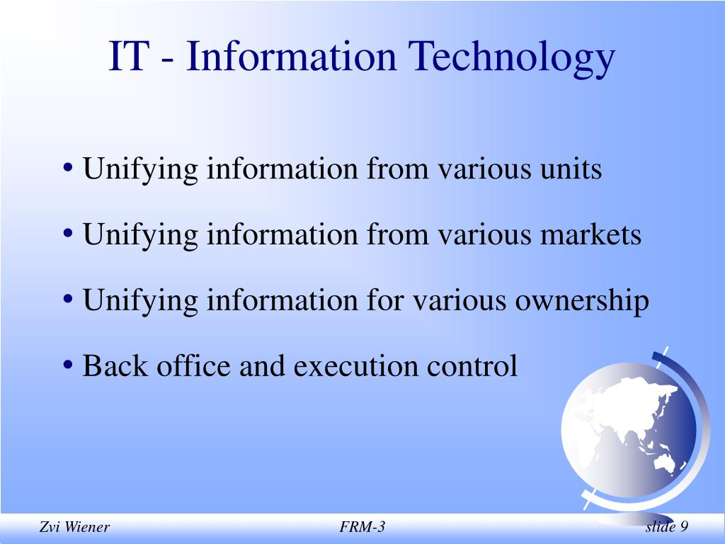 IT - Information Technology