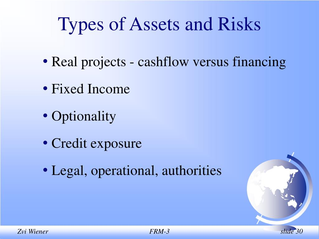 Types of Assets and Risks