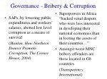 governance bribery corruption