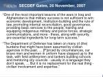 secdef gates 26 november 2007