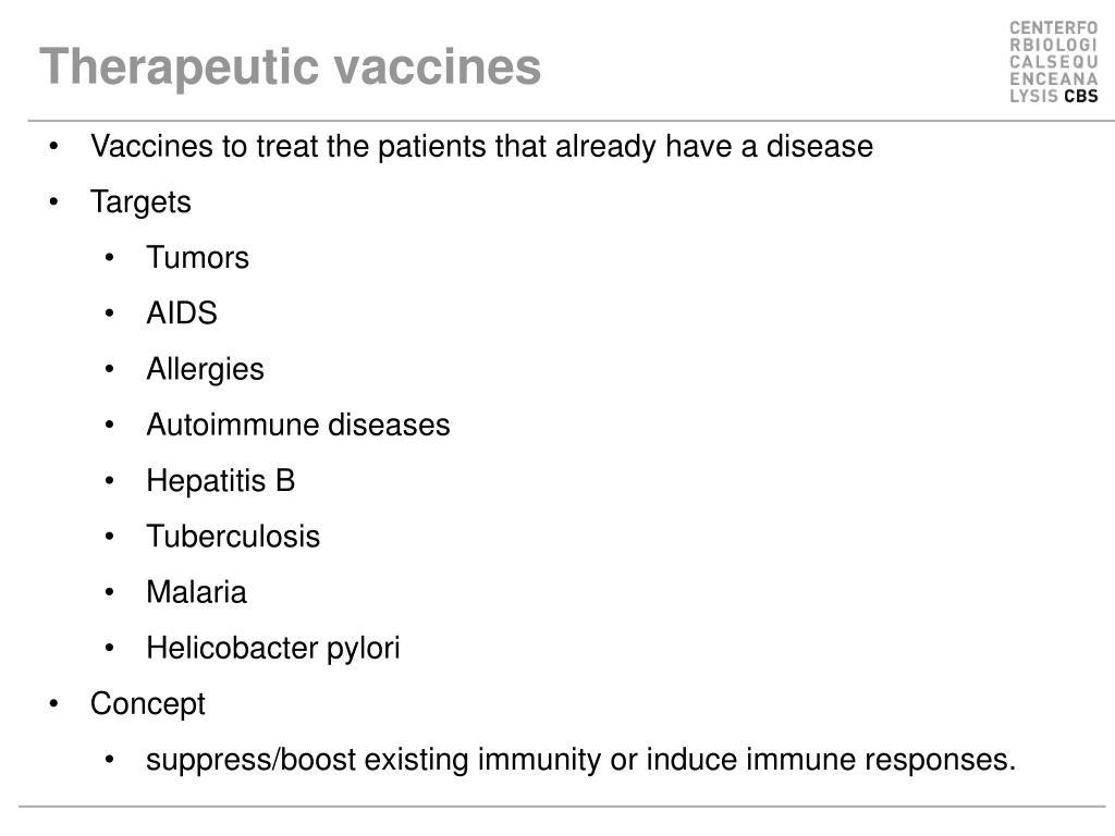 Therapeutic vaccines