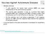 vaccines against autoimmune diseases