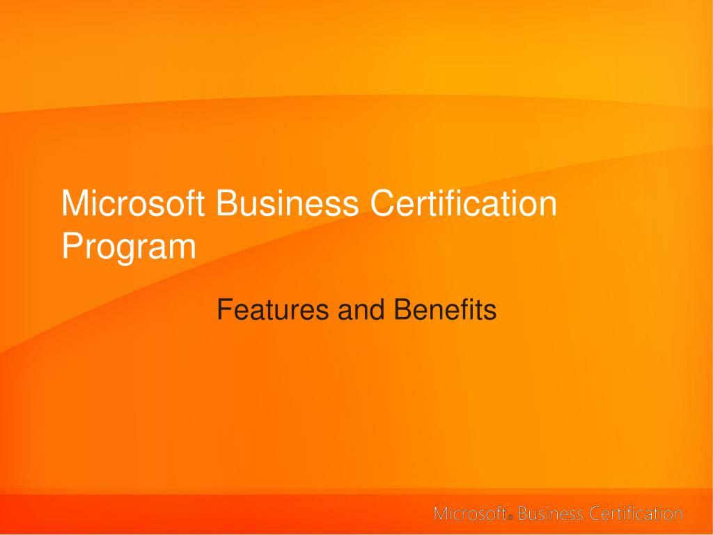 Microsoft Business Certification Program