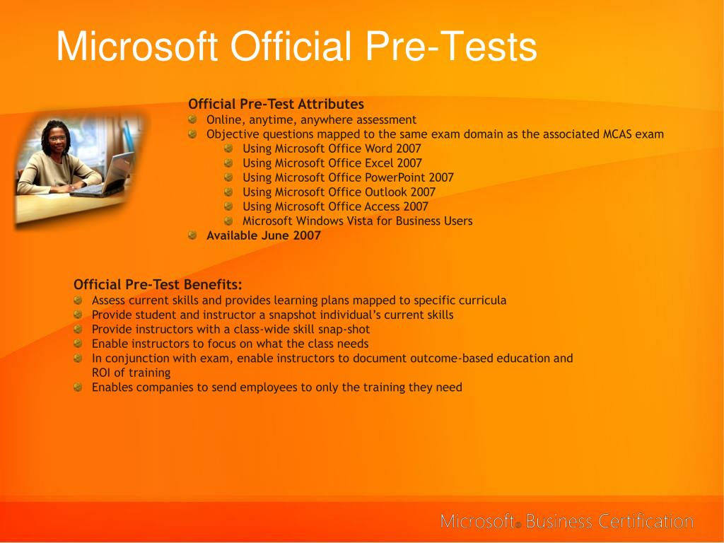 Microsoft Official Pre-Tests