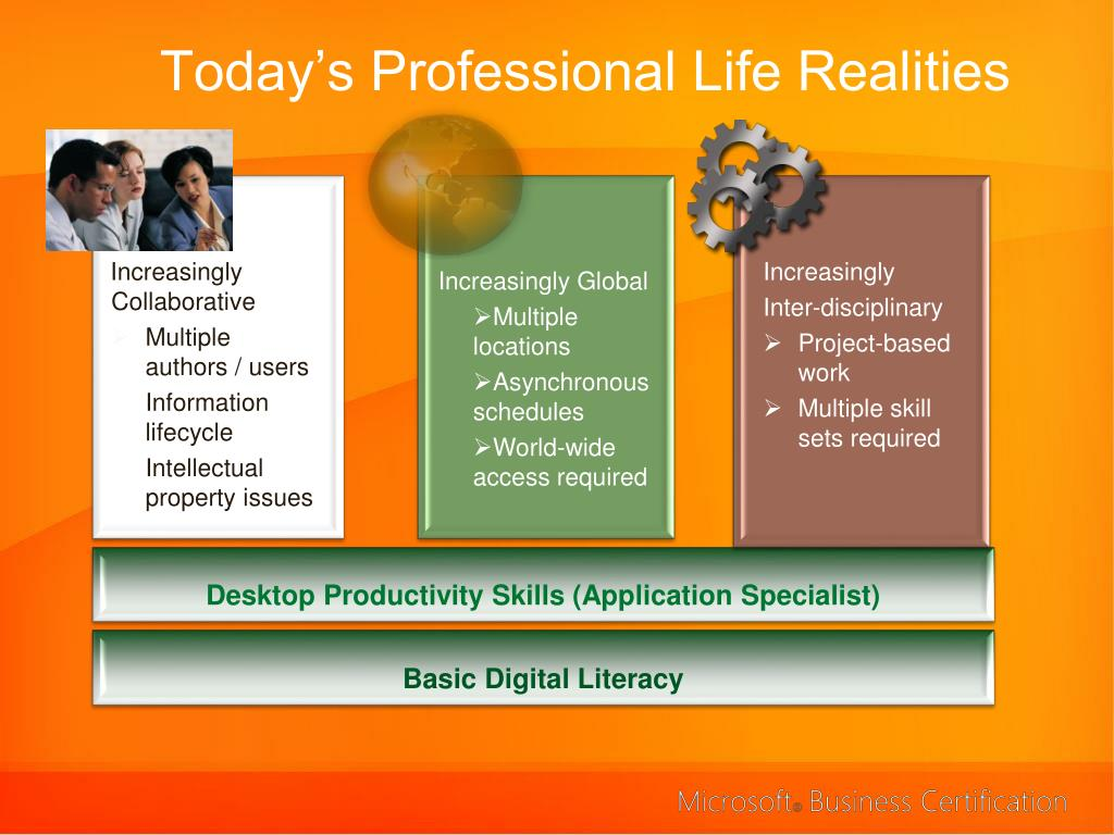 Today's Professional Life Realities