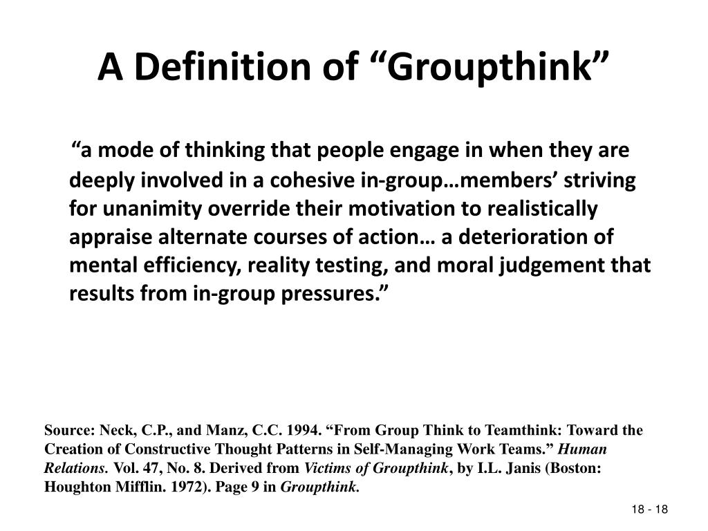 """A Definition of """"Groupthink"""""""