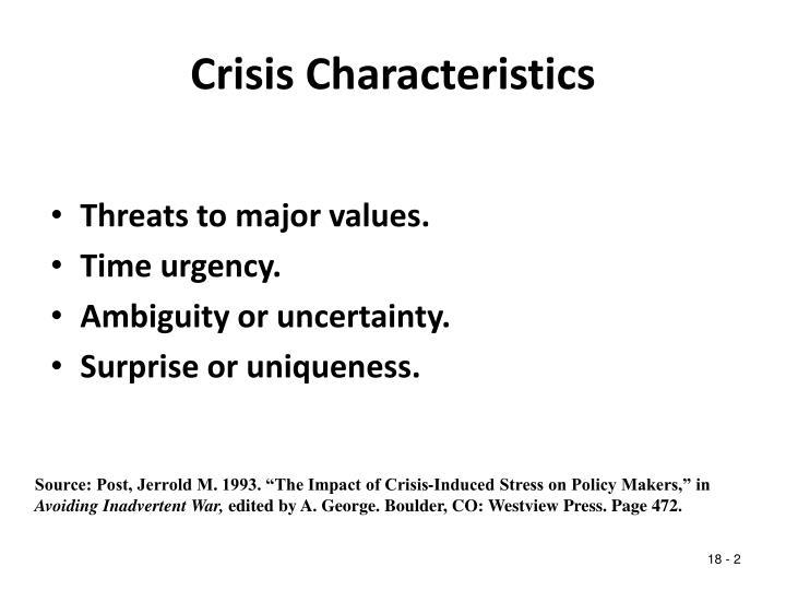 Crisis characteristics