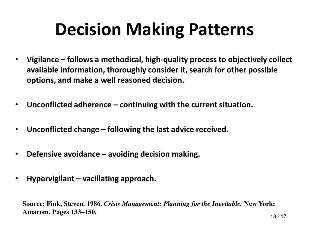Decision Making Patterns