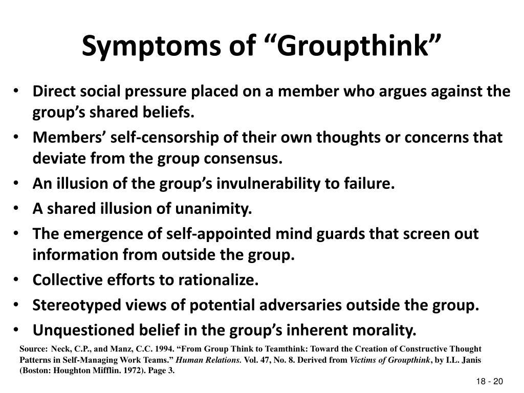 "Symptoms of ""Groupthink"""