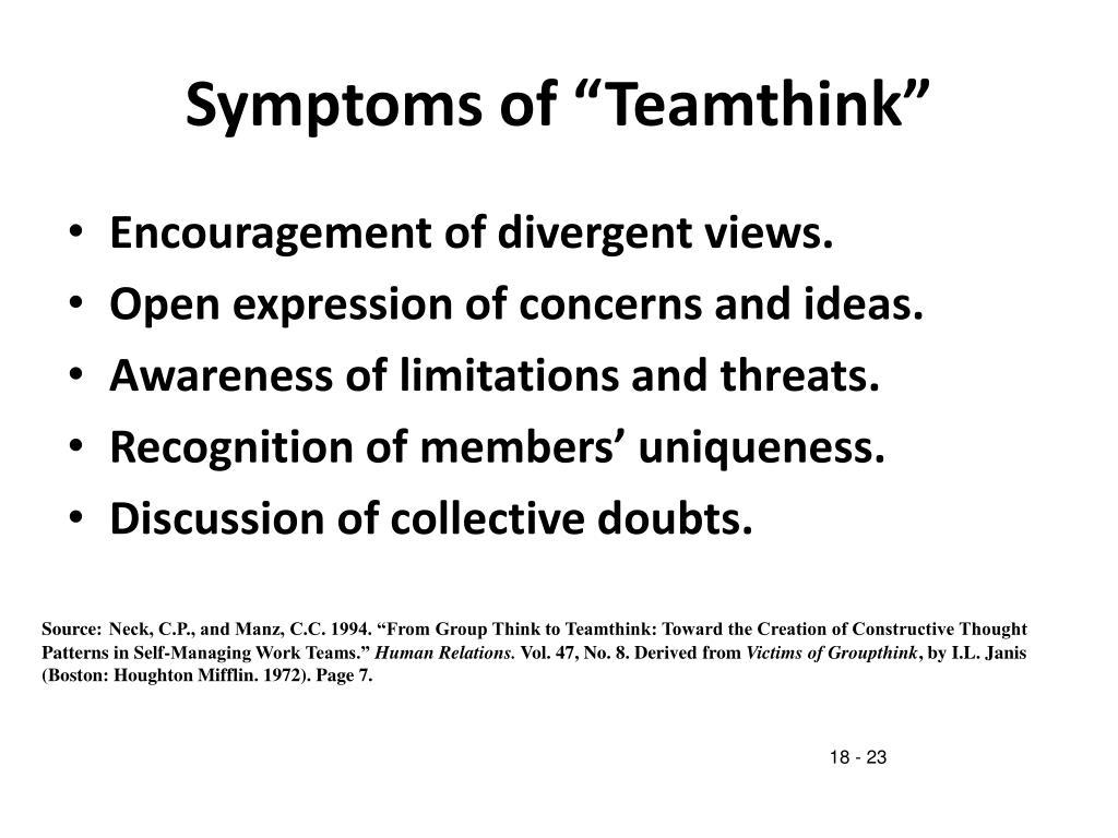 "Symptoms of ""Teamthink"""