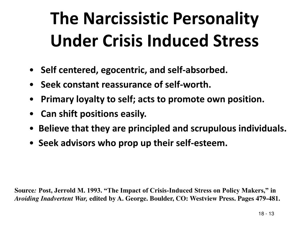 The Narcissistic Personality Under Crisis Induced Stress