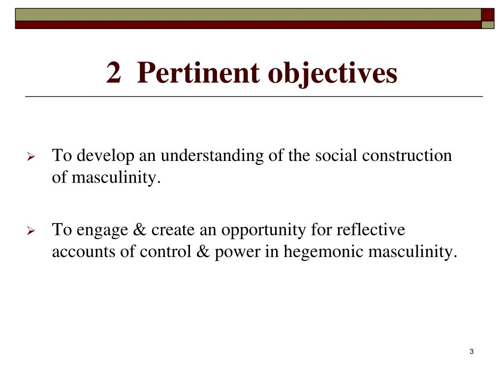2  Pertinent objectives