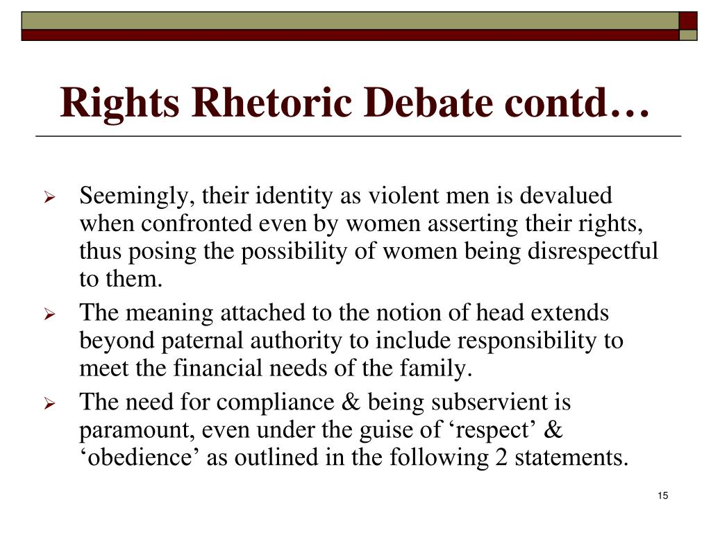 Rights Rhetoric Debate