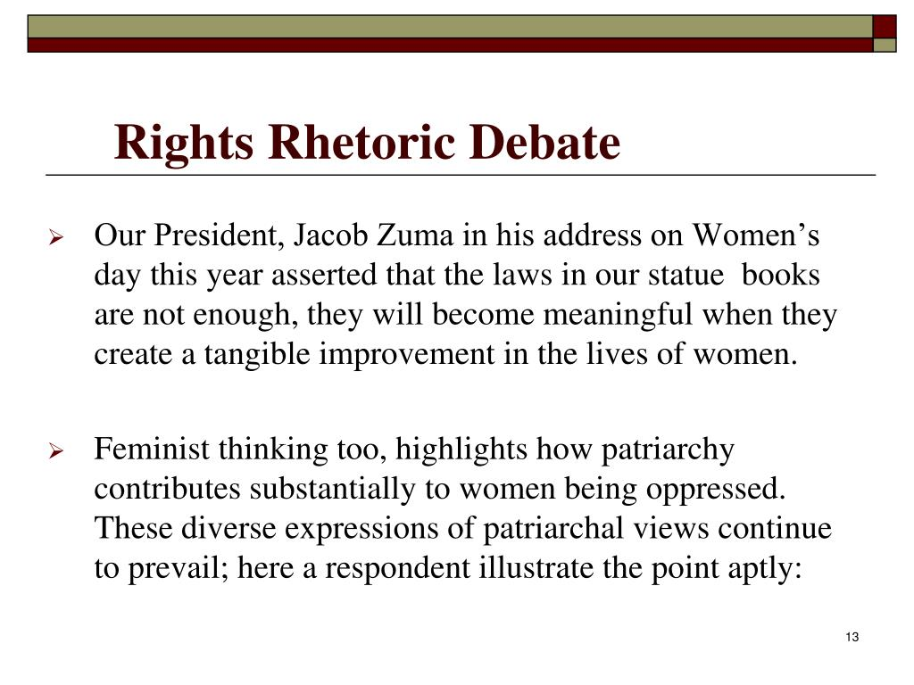 Rights Rhetoric