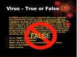 virus true or false16