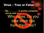 virus true or false19