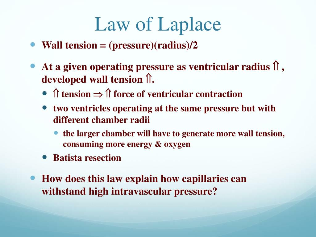 Law of Laplace
