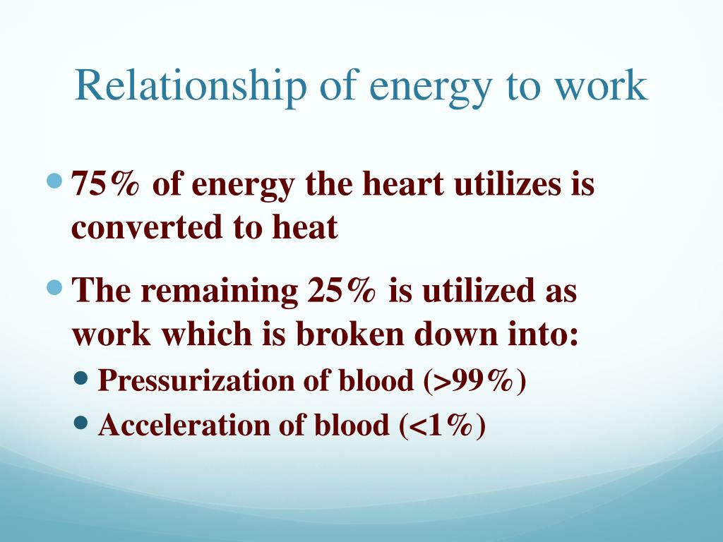 Relationship of energy to work