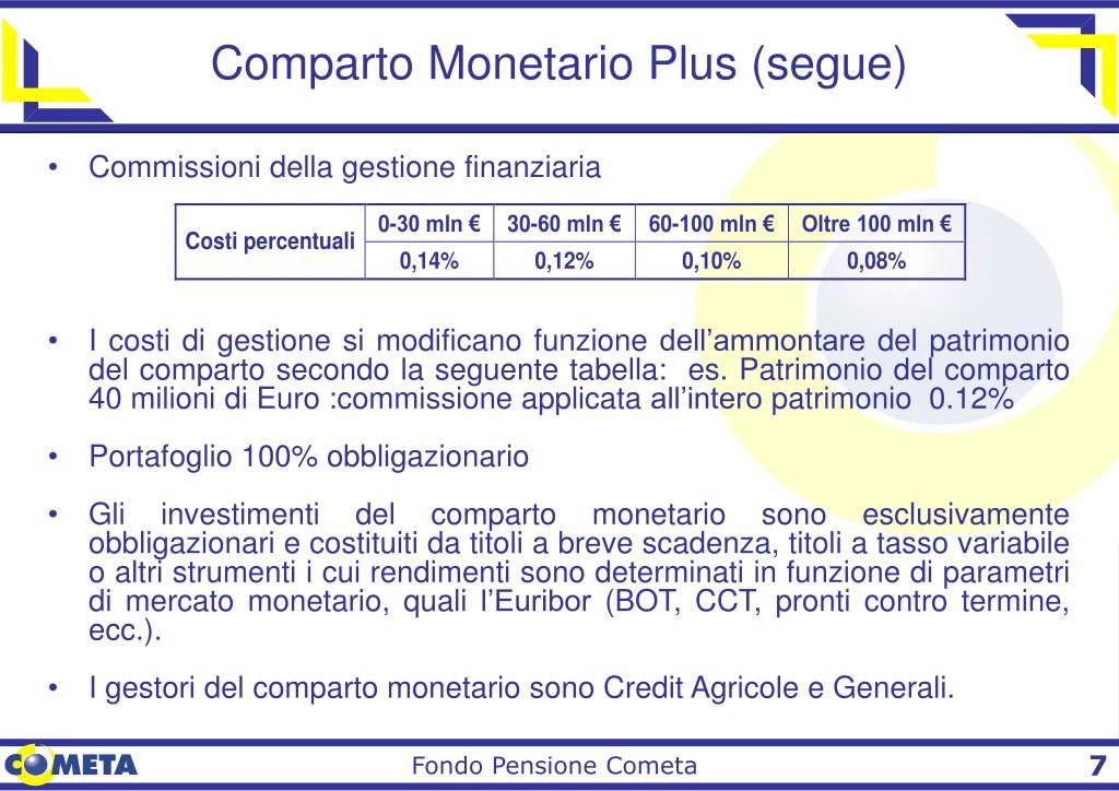 Comparto Monetario Plus (segue)