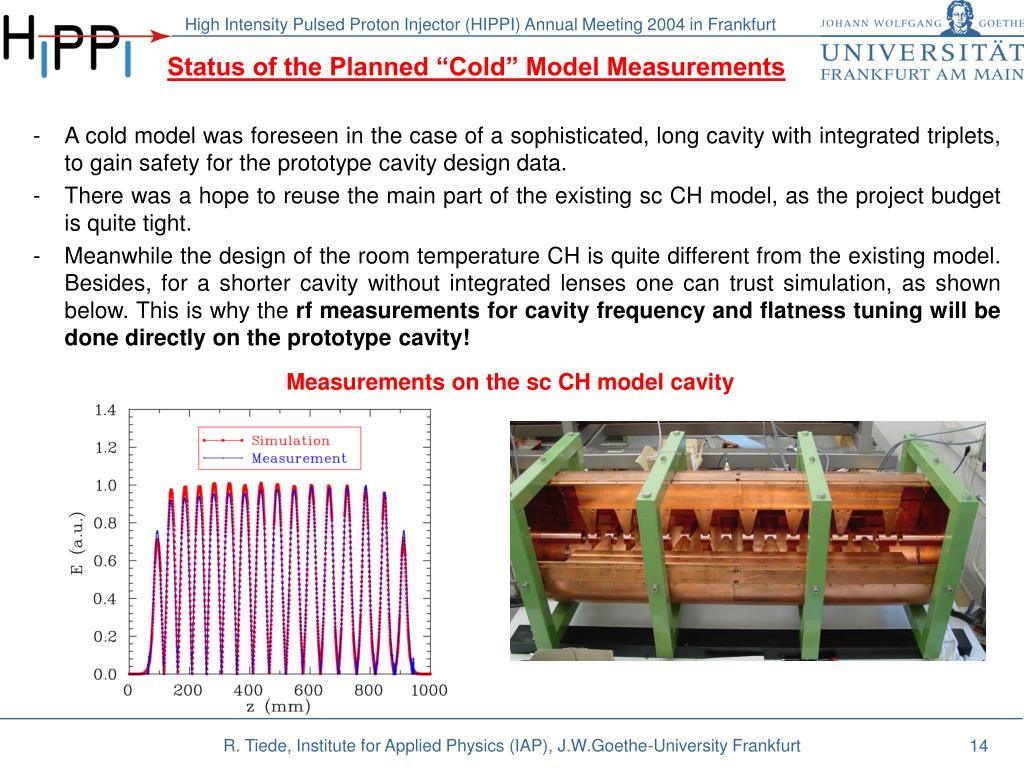 """Status of the Planned """"Cold"""" Model Measurements"""