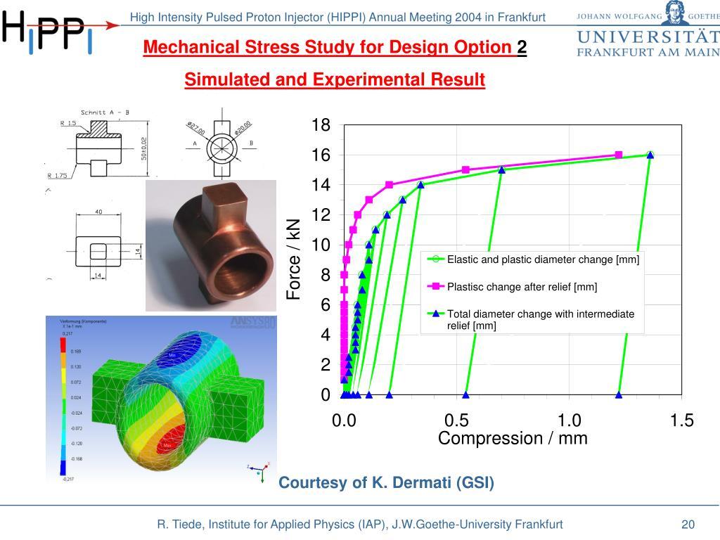 Mechanical Stress Study for Design Option