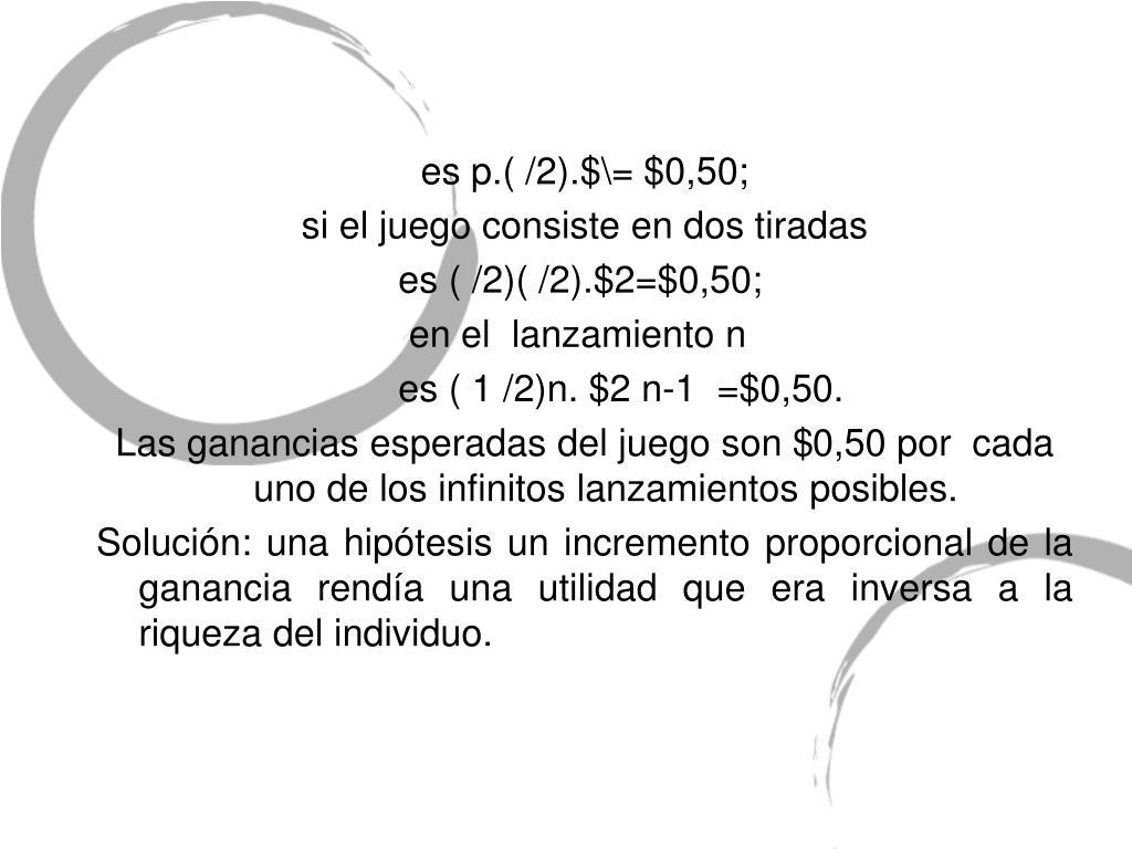 es p.( /2).$\= $0,50;